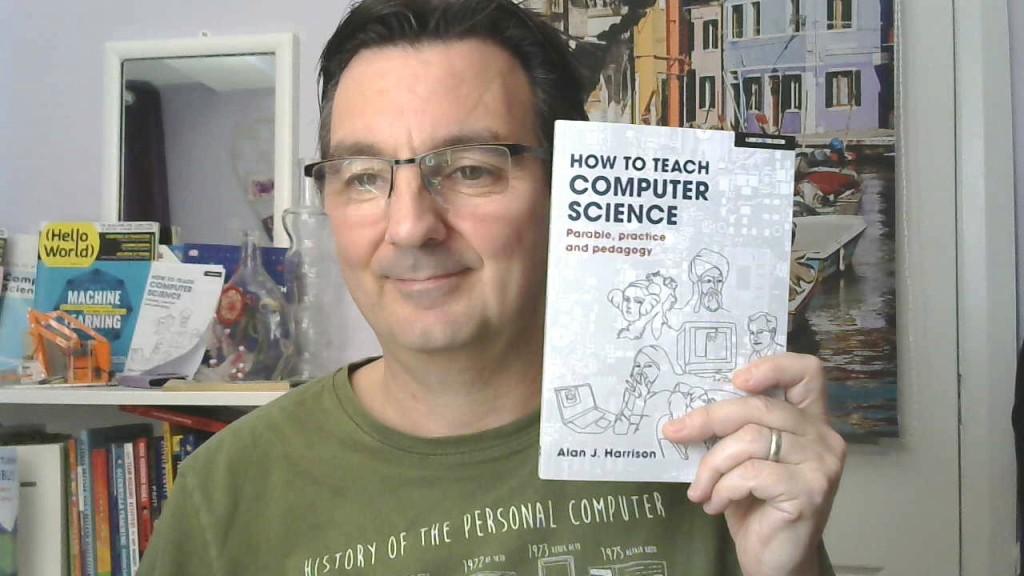 Alan posing with a copy of HTTCS